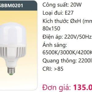 Bong Led Cong Suat Cao Doi Mausbbm0201