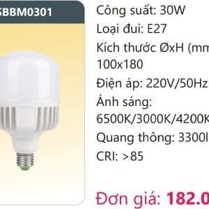 Bong Led Cong Suat Cao Doi Mausbbm0301