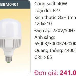 Bong Led Cong Suat Cao Doi Mausbbm0401