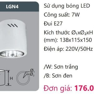 Den Downlight Gan Noi Den Downlight Am Tran Vien Son Cao Caplgn4