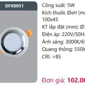 Den Led Downlight Tan Quangdfx0051