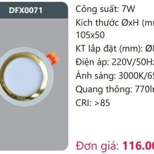 Den Led Downlight Tan Quangdfx0071