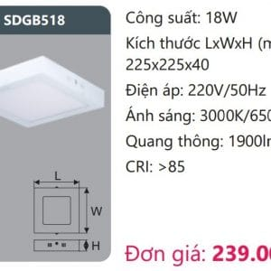 Den Led Panel Gan Noisdgb518