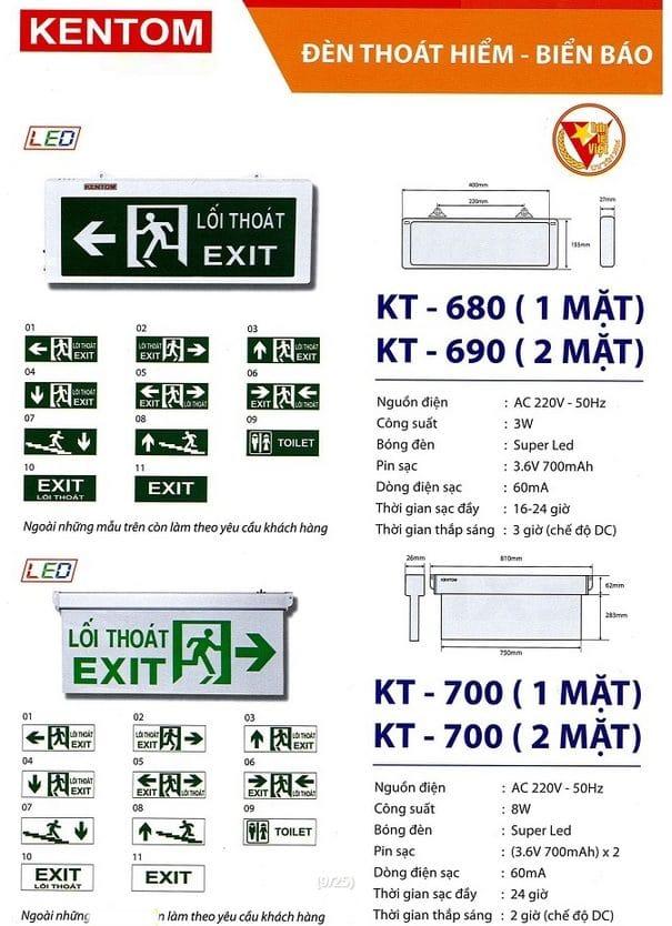 Bang Gia Den Kt 680, Kt 690