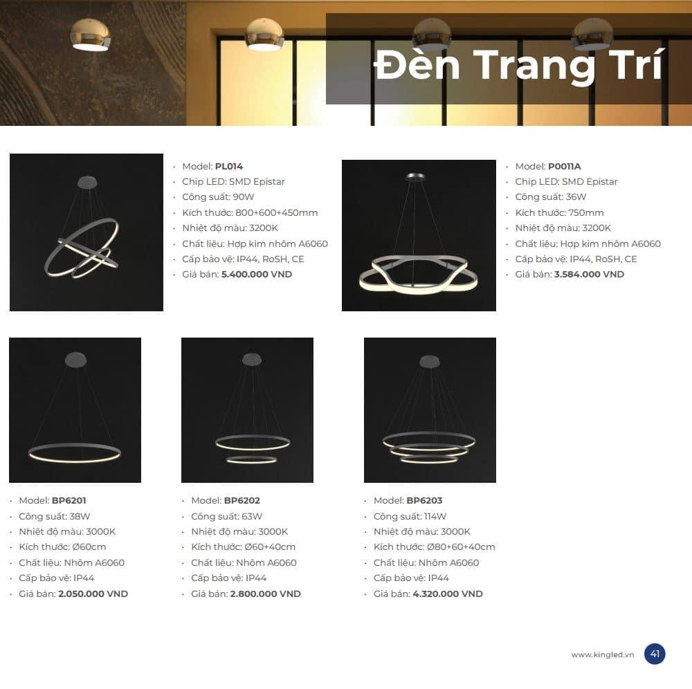 Bang Gia Den Trang Tri Kingled