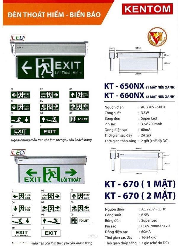 Bang Gia Den Kt 650nx