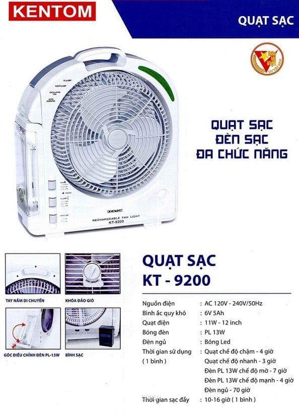 Bang Gia Quat Sat Kt 9200