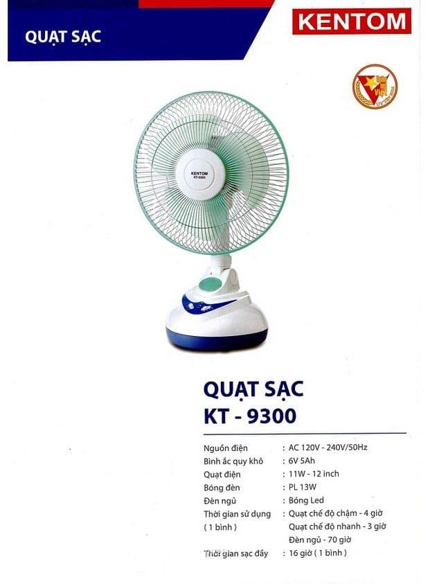 Bang Gia Quat Sat Kt 9300