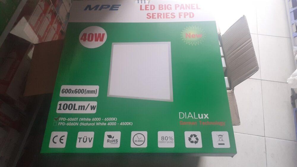 Dong Goi Den Led Panel 600x600 Mpe Fpd 6060 T V