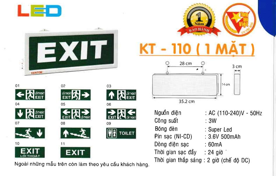 Den Exit Kentom Kt 110 1 Mặt