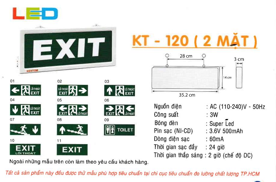Den Exit Kentom Kt 120 2 Mặt