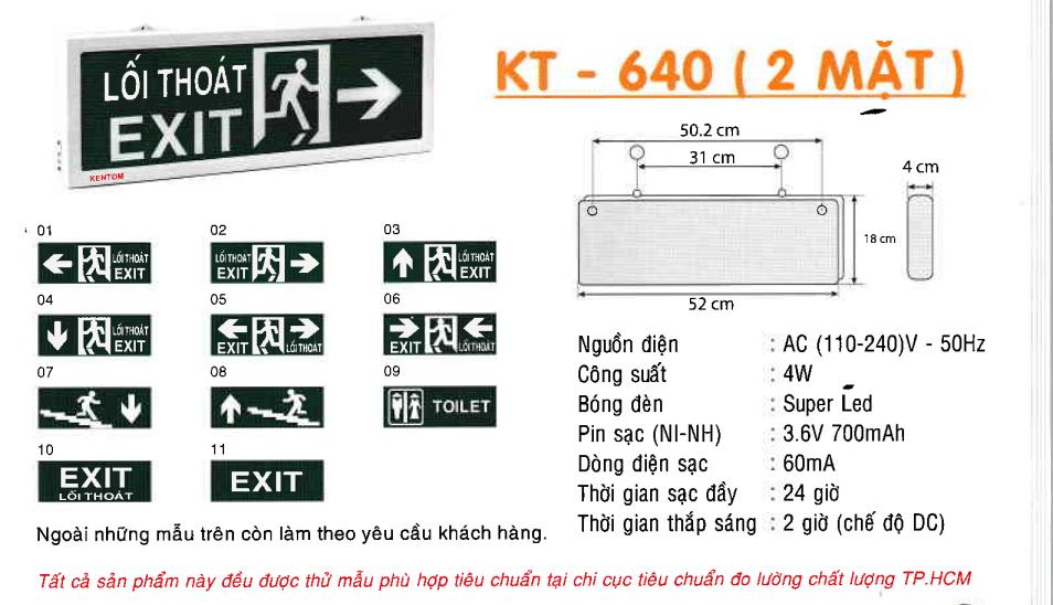Den Exit Kentom Kt 640 2 Mặt