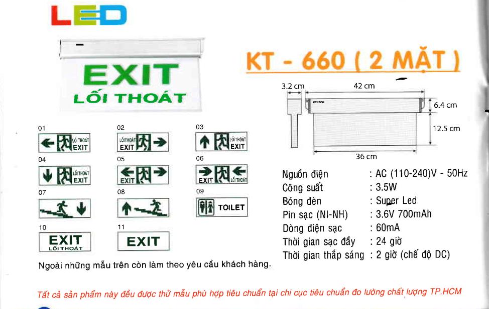 Den Exit Kentom Kt 660 2 Mặt
