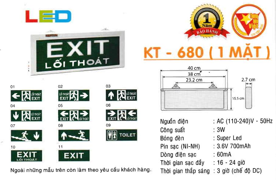 Den Exit Kentom Kt 680 1 Mặt
