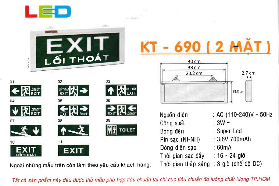 Den Exit Kentom Kt 680 2 Mặt