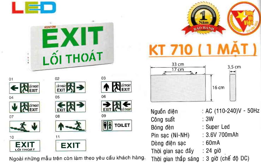 Den Exit Kentom Kt 710 1 Mặt